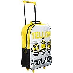 Minions Despicable Me 3–Maleta con ruedas de viaje niños equipaje de amarillo