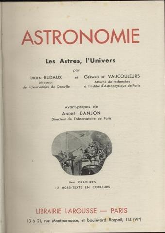 Astronomie les astres l'univers