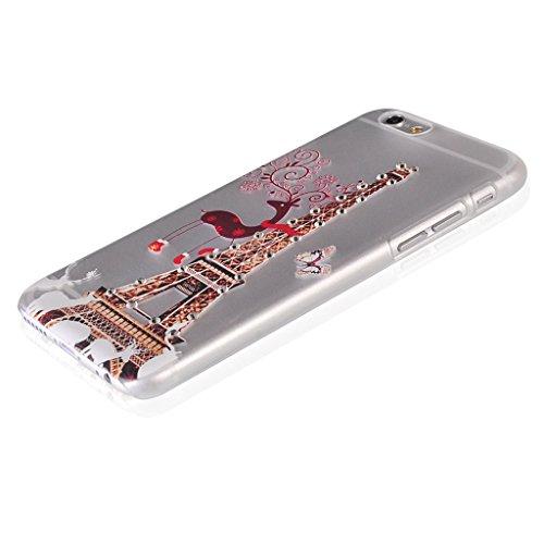 UKDANDANWEI Apple iPhone 6 Plus Hülle Case - Bling Strass Ultra Dünn Hart PC Hülle Glitzer Rückseite Slim Etui Schale für Apple iPhone 6 Plus -27 Bling-23