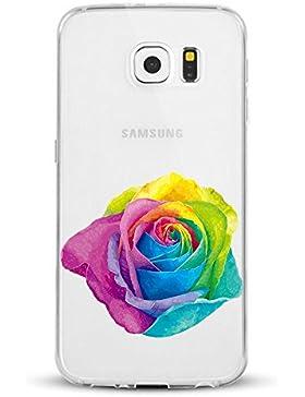 Vanki® Samsung Galaxy S6 Funda, Protectiva Carcasa de Silicona de gel TPU Transparente, Ultra delgada Amortigua...