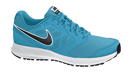 Nike Herren Downshifter 6 Laufschuhe, Grau, 42 EU Blau / Schwarz / Weiß (Blaue Lagune / Schwarz-Weiß)