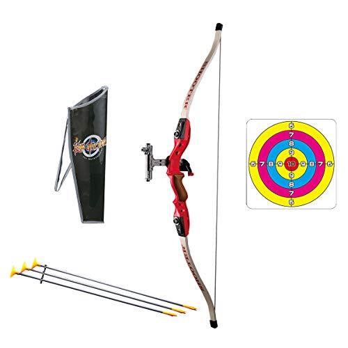 Pickwoo Arc et flèche Jouet emulational pour Enfant Jouet de fléchette avec 1 Arc, 3 flèches et 1 Cible