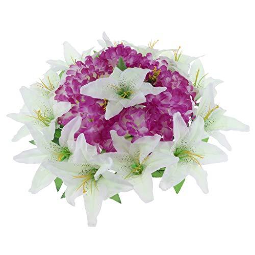 Flor de Lirio y Crisantemo arificiales