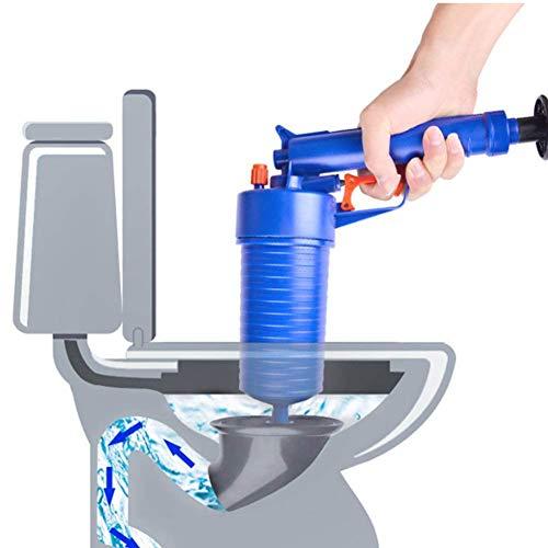 Aimire Pressluft Rohrreiniger für Bad und Küche Rohrreinigerpistole mit vier Aufsätzen zur Reinigung verstopfter Abflüsse