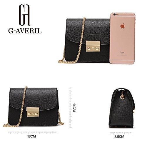G-AVERIL, Borsa a mano donna nero Black Red
