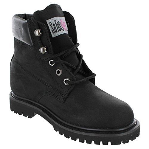 Safety Girl GS003-BLK-8W Steel Toe II Waterproof Women's Work Boots, Toe Size 8W, Black by SafetyGirl Peak Waterproof Boot