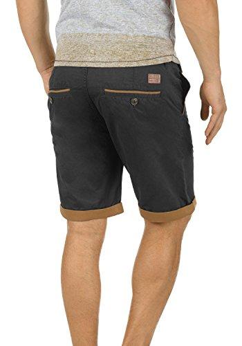 BLEND Neji Herren Shorts kurze Hose Basic-Shorts mit Gürtel aus 100% Baumwolle Phantom Grey (70010)