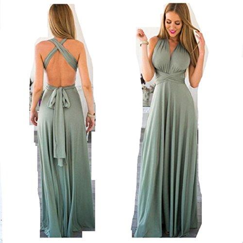 Infinity Kleid, Ballkleid, Brautjungfernkleid, Gr. 34-42 türkis/grün Wickelkleid lang, 70...