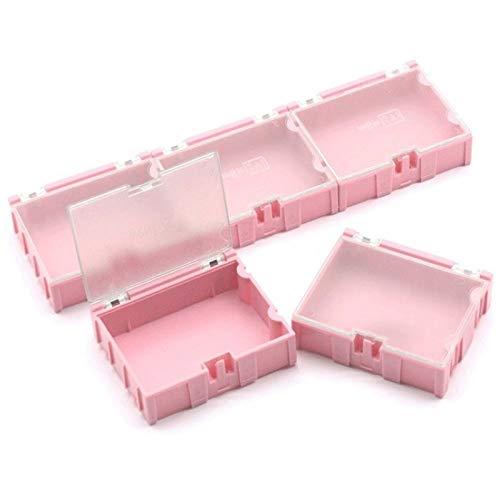 SODIAL 20 Stücke # 3 Rosa Teile Box Werkzeug Box Box für Elektronische Komponenten Aufbewahrungs Box für Schrauben Span Widerst?nde ?ffnet Automatisch Patch Container