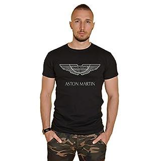ASTON MARTIN Herren T-Shirt Schwarz Schwarz Gr. S, Schwarz