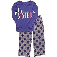 Carter' s zweiteiler Girl in pile da bambina pigiama taglia 86/92Big Sister 2pezzi Pajama lilla