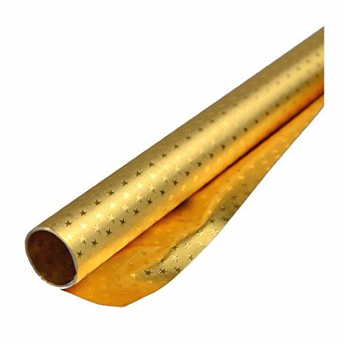 Alufolie mit Sterne Alu Bastelfolie doppelseitig kaschiert 50x78cm gold/gold