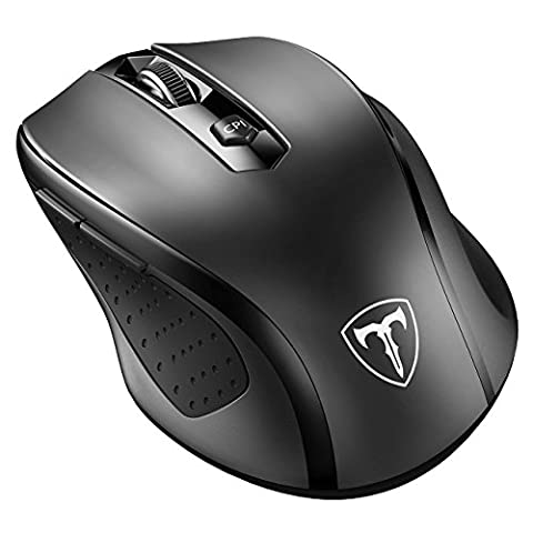 VicTsing Mini Schnurlos Maus Wireless Mouse 2.4G 2400 DPI 6 Tasten Optische Mäuse mit USB Nano Empfänger Für PC Laptop iMac Macbook Microsoft Pro, Office Home