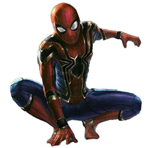 (TUJHGF Spiderman Kostüm Rollenspiele Kinder Körper Strumpfhosen Spielzeug Kostüm Film Requisiten,Red-S(150-160cm))