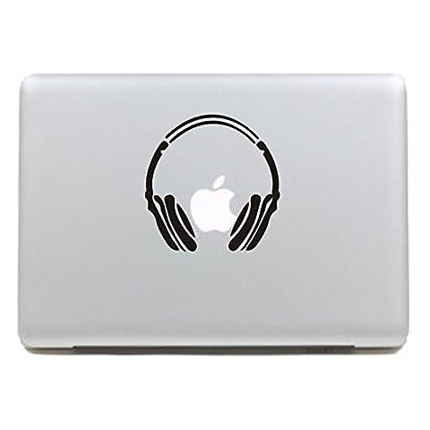 """MacBook Aufkleber, Chickwin Creative Pattern dekorativ Film Notebook Sticker Skin personalisierte Aufkleber MacBook Pro Air 13"""" Decal (Drahtloses Headset A)"""