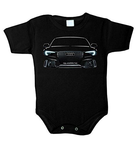 Baby Body RS6 AUDI QUATTRO STANCE LED Babykleidung Strampler Unterwäsche (92 (24-36 m), Schwarz)