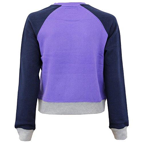 Sweat-shirt DAMES Tokyo Laundry femmes imprimé col rond pull polaire POURPRE - 3D 4801