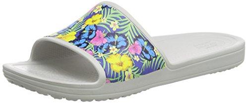 crocs Sloanegrphsld, Pantofole Donna Blu (Blue/Floral)