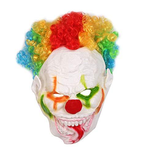 Amosfun Halloween Party Großer Mund Lange Zunge Clown Form Maske Lustige Gesichtsmaske Cosplay Party Kostüm Requisiten Horrific Performance Mask Party Supplies (Clown Masken Beängstigend Wirklich)