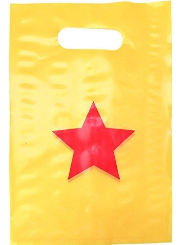 Lifetime Inc Party gefallen Goodie Bags Superhero Wonder Woman Thema Geburtstag Lieferungen Kunststoff mit Griff (Star)