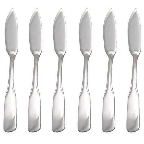 *GRÄWE® Fischmesser 6 Stück, Serie SPATEN aus Edelstahl*