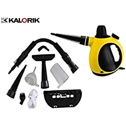 Team Kalorik Nettoyeur Vapeur, Réservoir 250 ml, Divers Accessoires Inclus, Température Vapeur: 105°, 1000 W, Jaune/Noir, TKG SFC 1005
