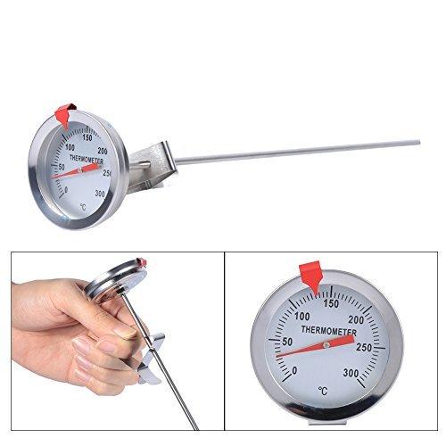 Kochen Thermometer Sonde Thermometer BBQ Thermometer Putzbox Thermometer Stahl-Thermometer Küche Thermometer Edelstahl für die Lebensmittel Kochen Braten Fleisch