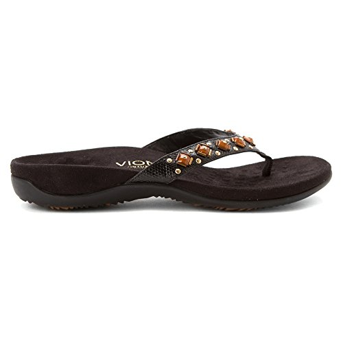 Vionic Womens 340 Floriana Synthetic Sandals Black/Croco