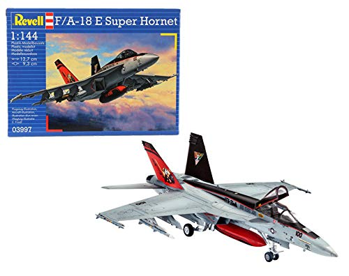 Revell-F/A-18E Super Hornet, Kit de Modelo, Escala 1:144 (3997) (03997), Multicolor, 12,7 cm