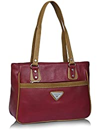 Fantosy Maroon And Beige Women Shoulder Bag (maroon And Beige) (FNb-775)