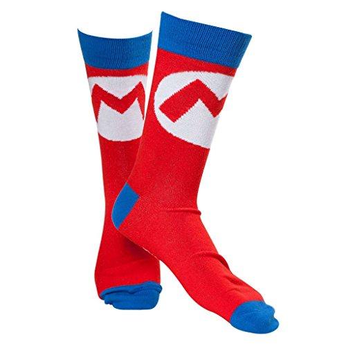 Oficial Super Mario Bros Mario Logo adultos equipo calcetines - Reino