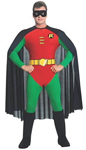 Rubie's Offizielles Batman-Kostüm für Erwachsene, Rotkehlchen, Größe - Robin Rotkehlchen Kostüm