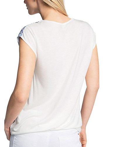 ESPRIT Collection Damen T-Shirt 056eo1k009-Regular Fit Mehrfarbig (OFF WHITE 110)