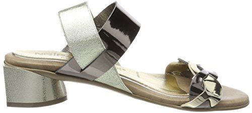 No Rapisardi Lady Utopia Slingback Sandal Grau (platino / Peltro Ecopatent)