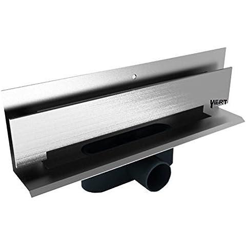 De acero inoxidable de MERT hux Home de desagüe para pared de montaje de 600 mm