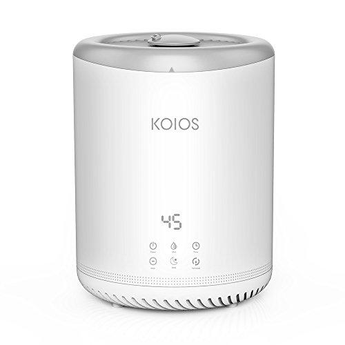 Koios 4L Top Füll Cool Mist Ultraschall-Luftbefeuchter mit 3 einstellbaren Nebel Einstellungen, offener Wassertank, einfach zu reinigen, Ultra-leise ...