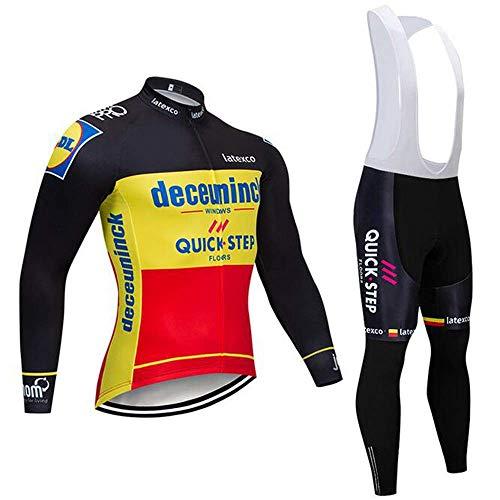 Herren Sommer Fahrrad Sweatshirt Set + 3D Gel Bib Longs, Mountain Bike Sweatshirt Set, absorbiert und leitet Schweiß ab. - Gel-bib