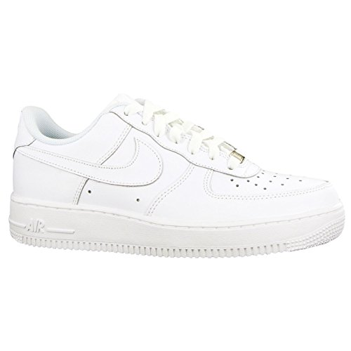 Nike Unisex-Kinder Air Force 1 (GS) Low-Top, Weiß (117 White), 36 EU