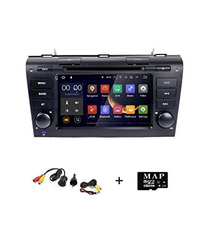 Smartnavi 17,8cm Android 7.1double DIN lecteur DVD de voiture Navigation GPS stéréo pour Mazda 3(2004–2009) dans Dash Autoradio avec écran tactile HD support Navi/Bluetooth/SD/USB/radio FM/AM/WiFi/DVR/1080p