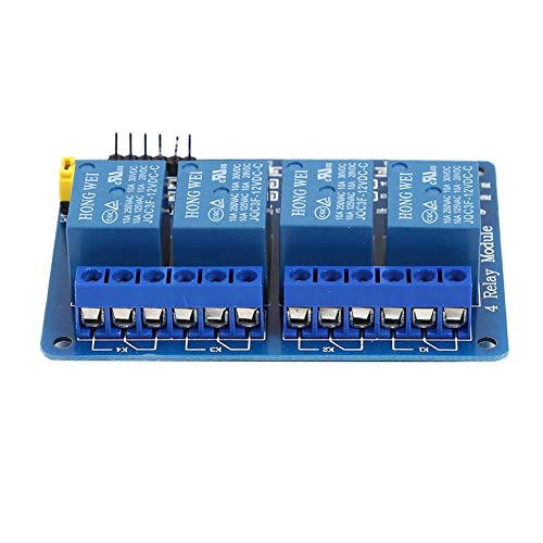 YouN 4 Channel with Optocoupler Output 4 Way Relay Module Expansion Board (12V) -