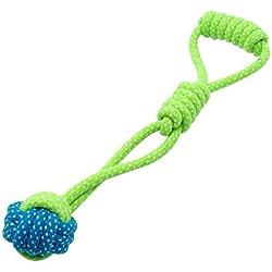 fish Pet Baumwolle Biting Seil mit Kugel-Spielzeug flicht Knotenkugel Chew Spielzeug für Haustiere Hundezähne Chewy Trainings-Werkzeug