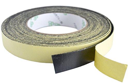 FiveSeasonStuff All Season industriel force Noir Simple Face Ruban Auto-adhésif en Mousse, bande / ruban adhésif imperméable, bande d'étanchéité (5mm (épais) x 20mm (large))