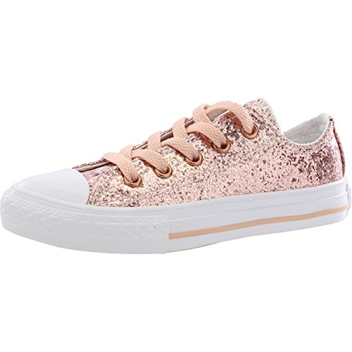 Converse Unisex-Kinder Chuck Taylor CTAS Ox Sneakers Mehrfarbig (Dusk Pink/Blush Gold/White 691) 35.5 EU