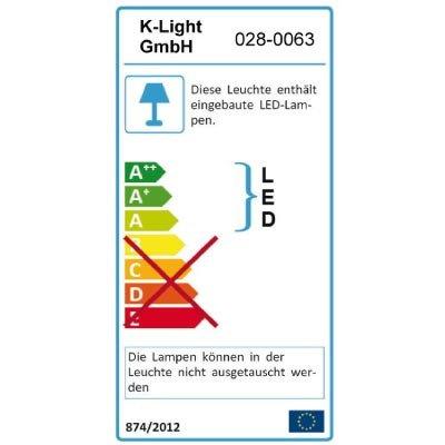 8-tlg. Wohnwand in weiß mit Abs. in Schwarzglas 2 Hängeschränke, 1 Wandregal, 2 Hängevitrinen, 3 TV-Unterschränke, Mindestmaß: B/T ca. 294/54 cm - 3