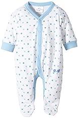 Twins Baby - Jungen Schlafstrampler mit Sternchen, All over print, Gr. 74, blau (weiss/baby blue) hier kaufen