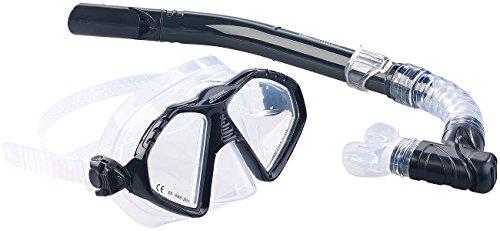 Speeron Schnorchelset: Schnorchel-Set für Erwachsene, Taucherbrille mit gehärteten Gläsern...