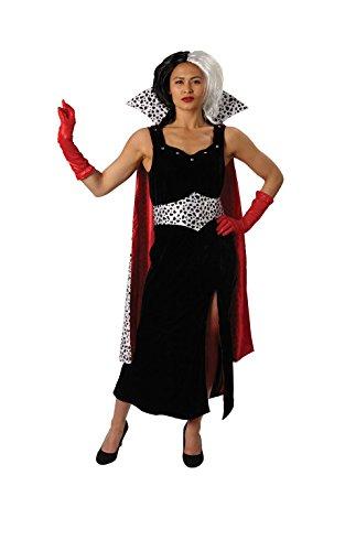 Imagen de rubie 's 810245l oficial deluxe cruella de vil 101dálmatas disfraz tamaño grande  alternativa