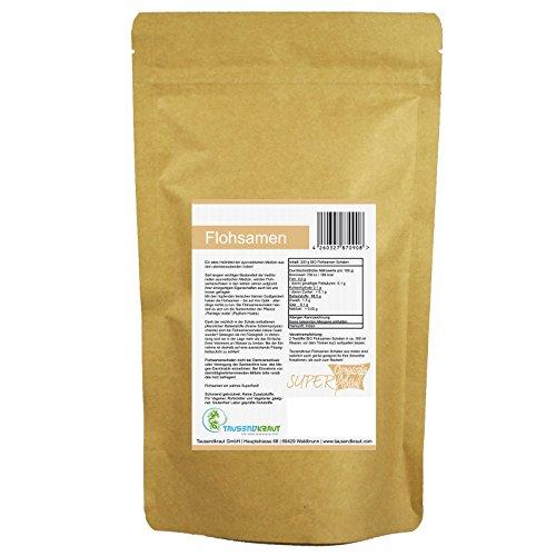 Flohsamen Schalen BIO (200g) Superfood [Plantago ovata, Ayurveda] Tausendkraut