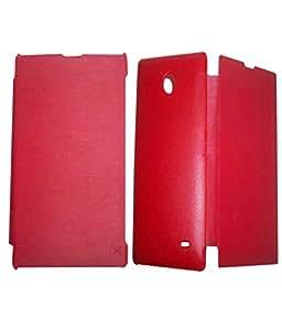 TBZ Flip Cover Case -Red for Nokia X / Nokia RM-986 /Nokia RM-980