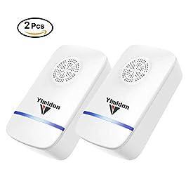 Yimidon Repellente ad Ultrasuoni Elettromagnetico Efficace, Elettrico Repeller Ultrasonico Contro Zanzare Tropicali Topi Parassiti Ratti Mosche Scarafaggi Ragni, 2 Pack
